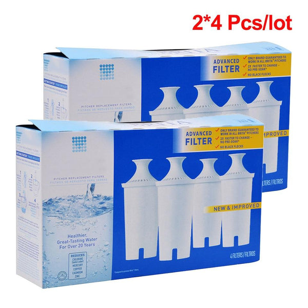 Activated Carbon water filter Pitcher Replacement for Brita Pitcher Double 4 Pcs/lot - PureWaterGuys.com