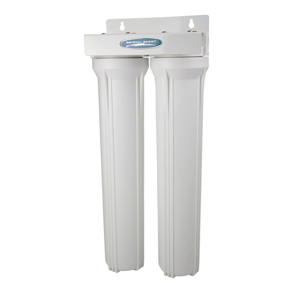 "Crystal Quest Commercial 20"" Double Cartridge Water Filter - PureWaterGuys.com"