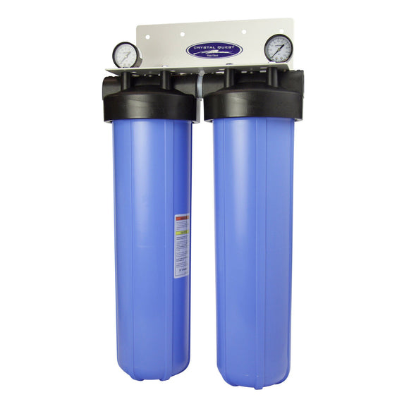 Crystal Quest Double Big Hvy Duty 20 x 5 Whole House Filter High Flow - PureWaterGuys.com