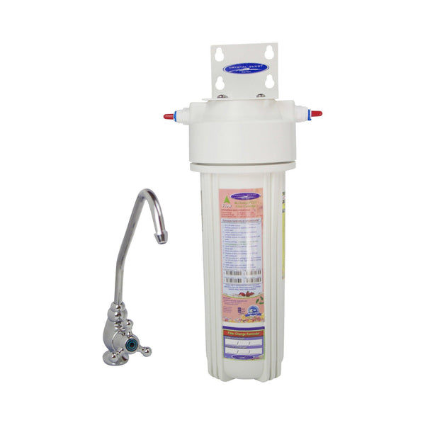 Crystal Quest Mega Undersink Single Replaceable Nitrate Water Filter System - PureWaterGuys.com