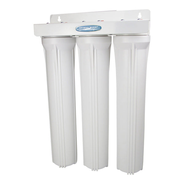 "Crystal Quest Commercial 20"" Triple Cartridge Water Filter - PureWaterGuys.com"