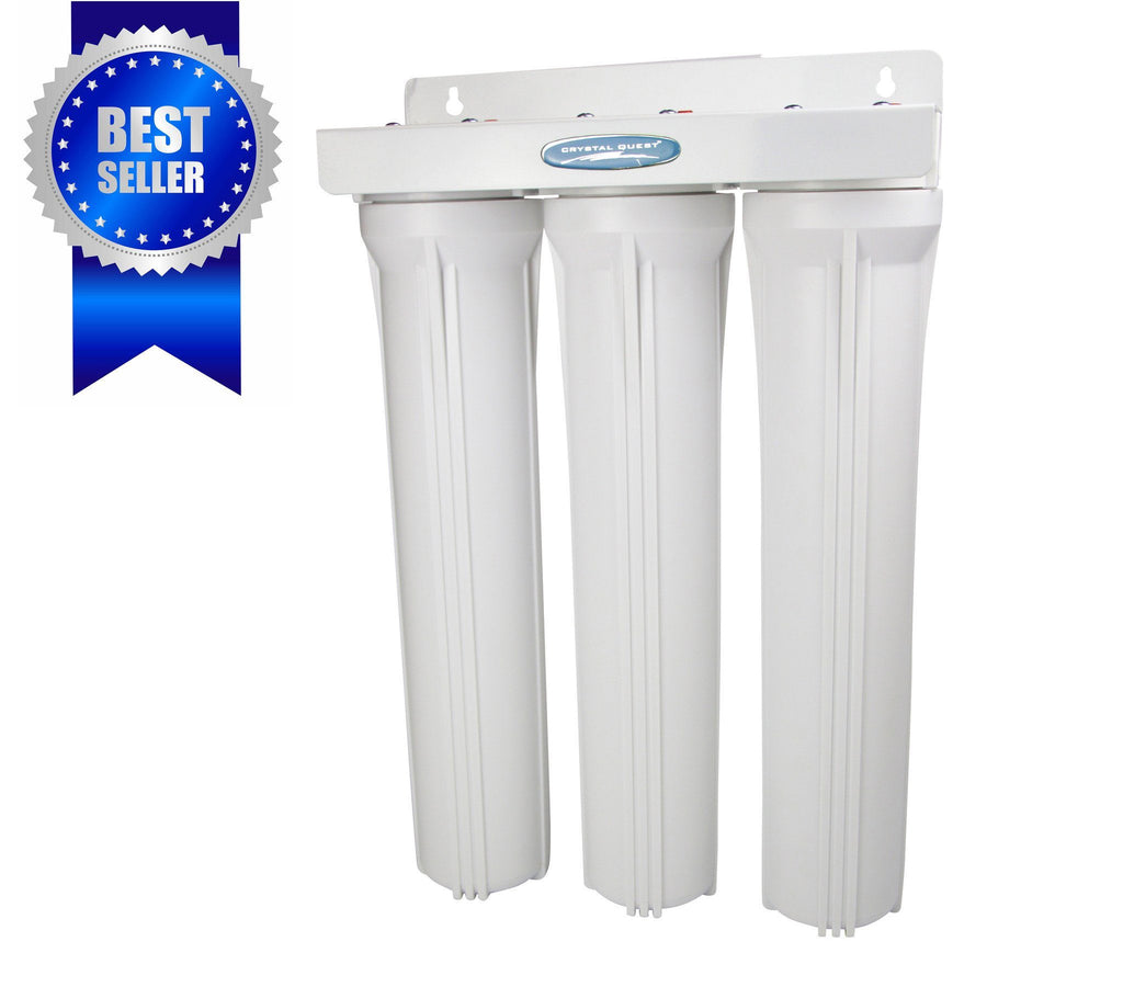 "Crystal Quest Compact Triple 20"" Whole House Water Filter System - PureWaterGuys.com"