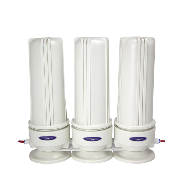 Crystal Quest Voyager Inline Triple Replaceable Fluoride Filter System - PureWaterGuys.com
