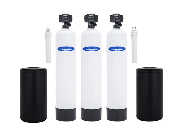 Crystal Quest Water Softener, Nitrate, and Multistage Whole House Water Filter System 48,000 Grain Capacity/1.5 Cu. Ft./750,000 Gallon Capacity - PureWaterGuys.com
