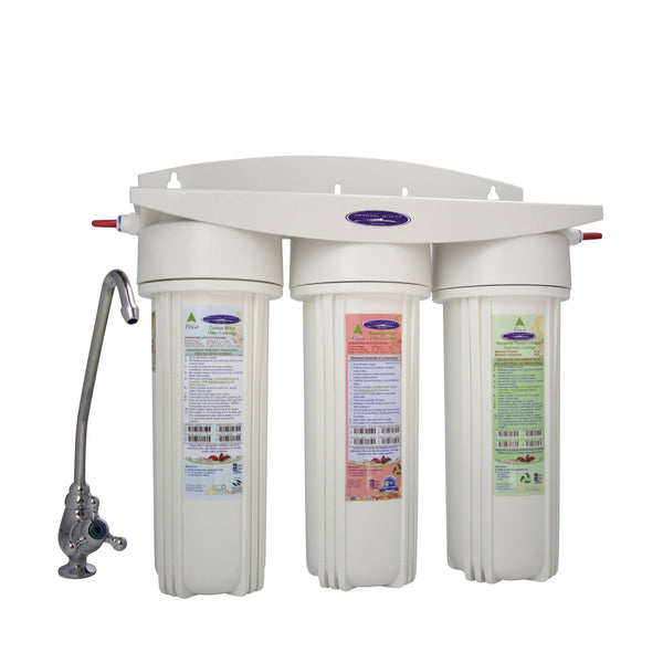 Crystal Quest Mega Undersink Triple Replaceable Ceramic Filter System - PureWaterGuys.com