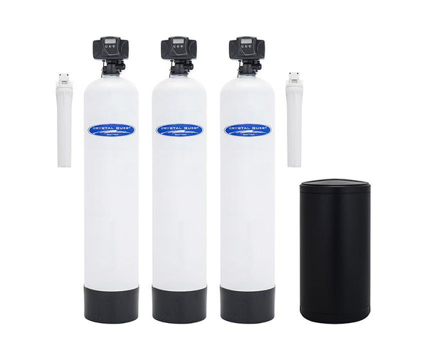 Crystal Quest Water Softener, Turbidity, and Multistage Whole House Water Filter System 48,000 Grain Capacity/1.5 Cu. Ft./750,000 Gallon Capacity - PureWaterGuys.com