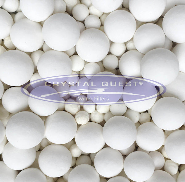 Crystal Quest White Ceramic Balls, per pound - PureWaterGuys.com