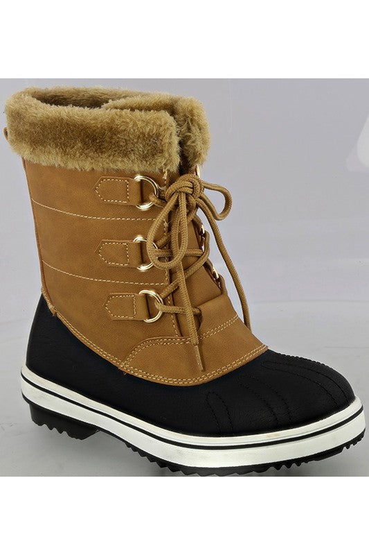 Casual Duck Boots - Tan