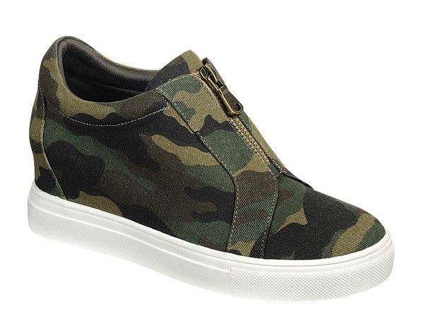 Hidden Wedge Sneaker - Camo