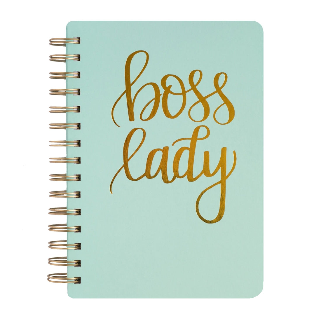 Boss Lady - Mint Spiral Notebook