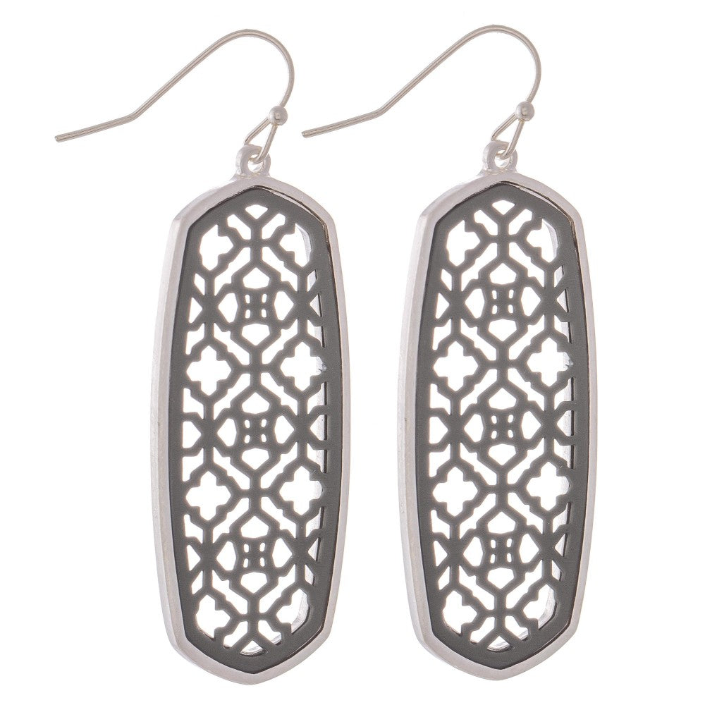 Two Tone Oblong Earring