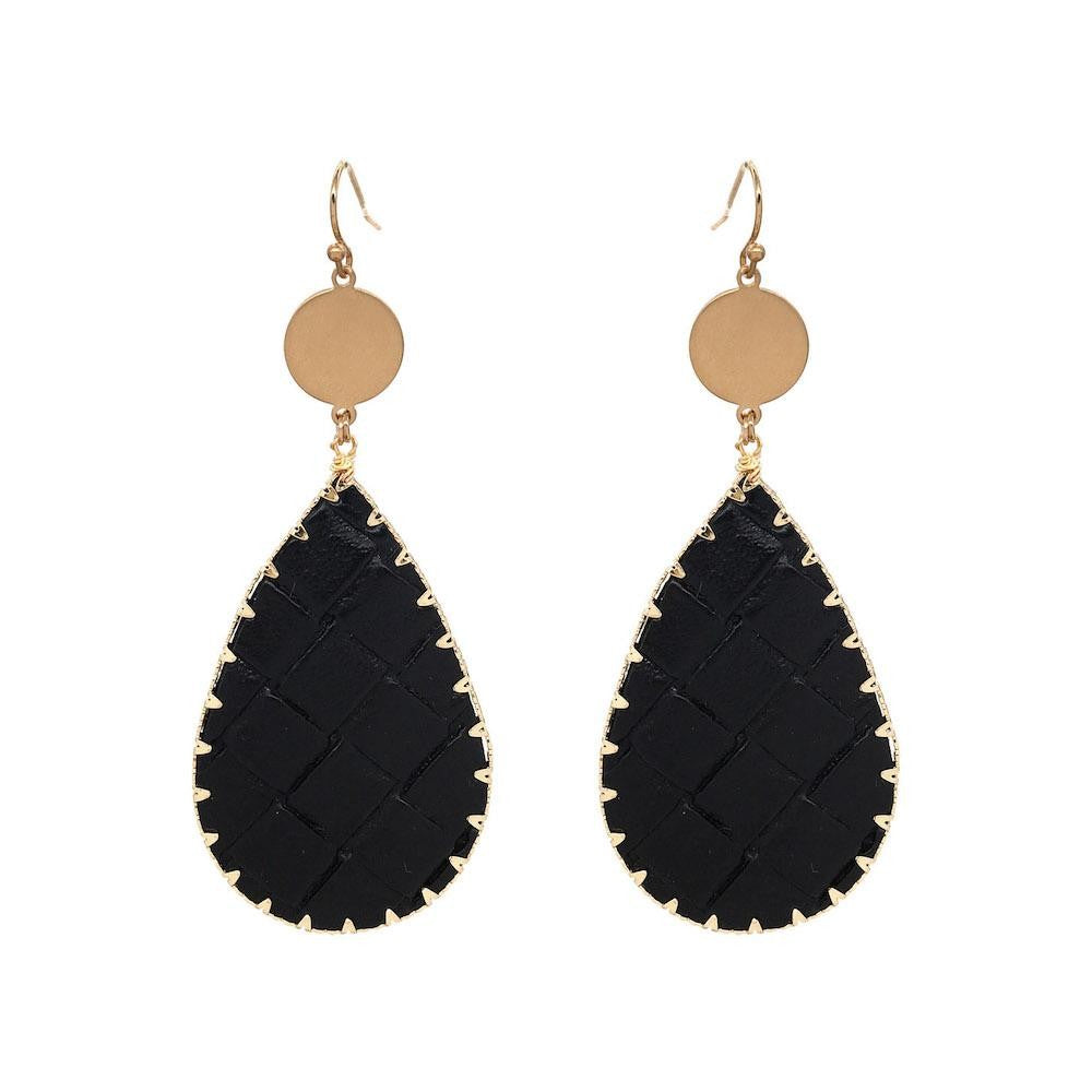 Basketweave Tear Drop Earring