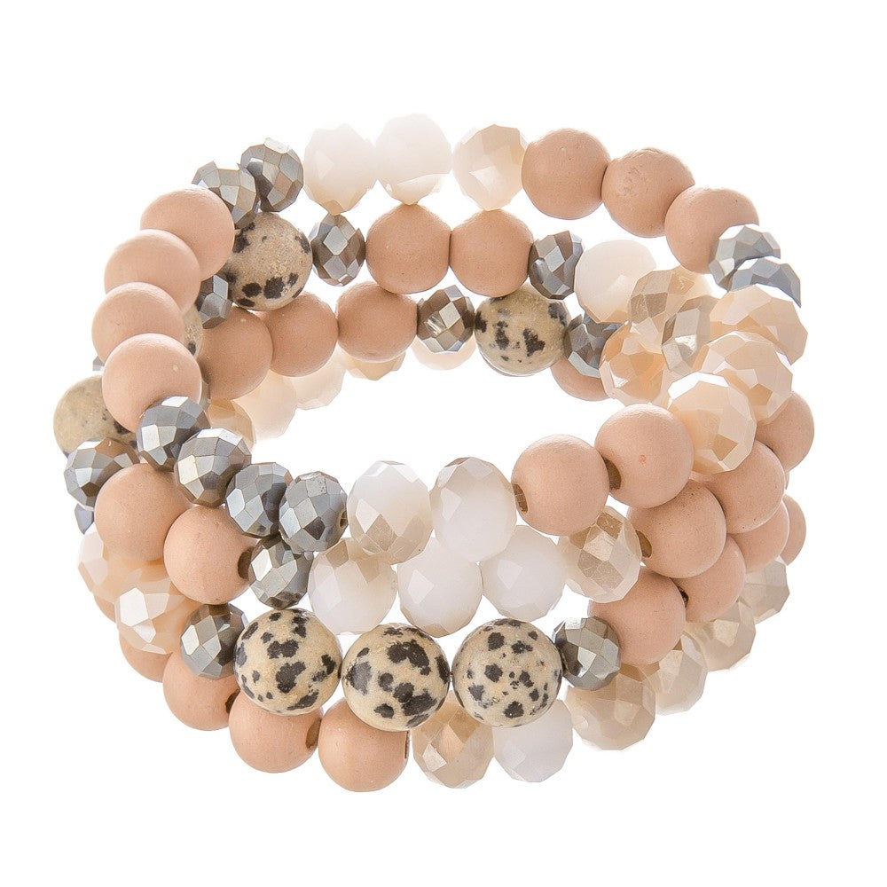 Rose Stackable Stretch Bracelet
