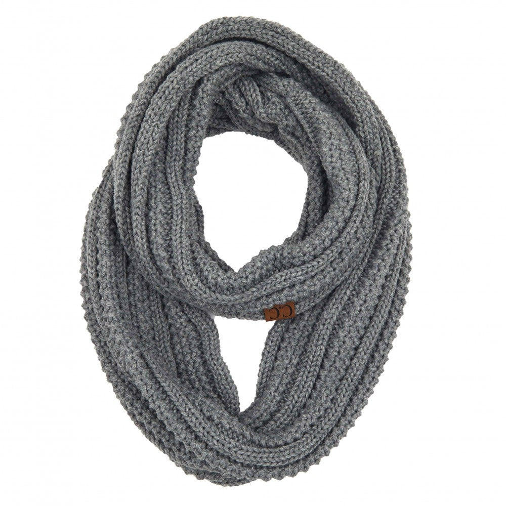 C.C. Scarf - Light Melange Grey