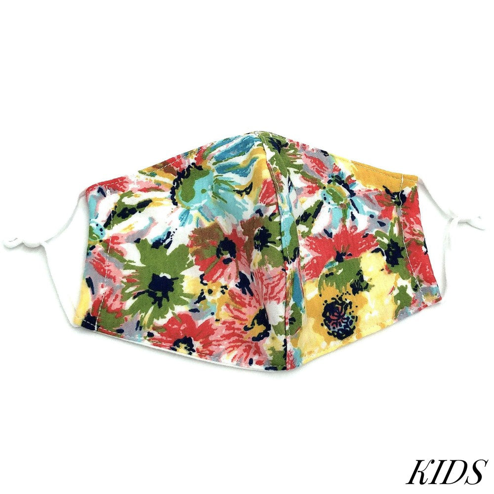 Kids Mask - Floral Yellow