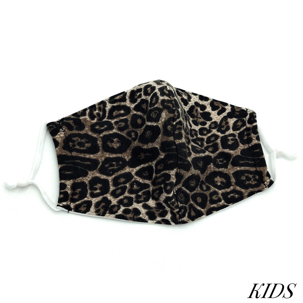 Kids Mask - Leopard Print Brown