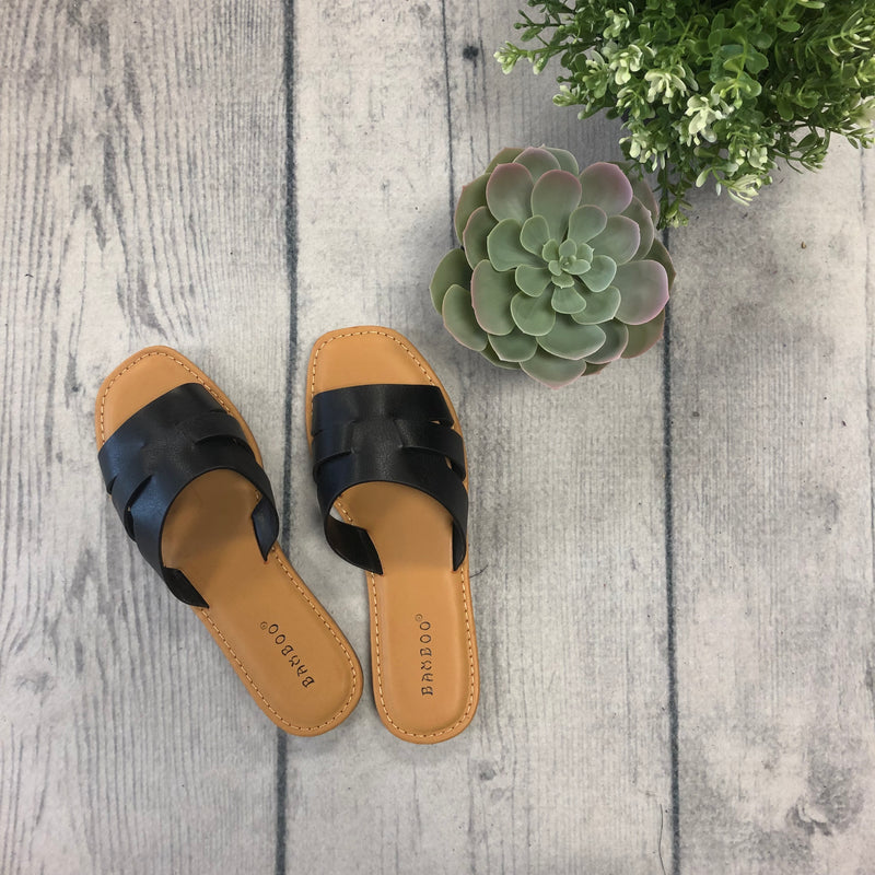 Open Toe Sandals-Black