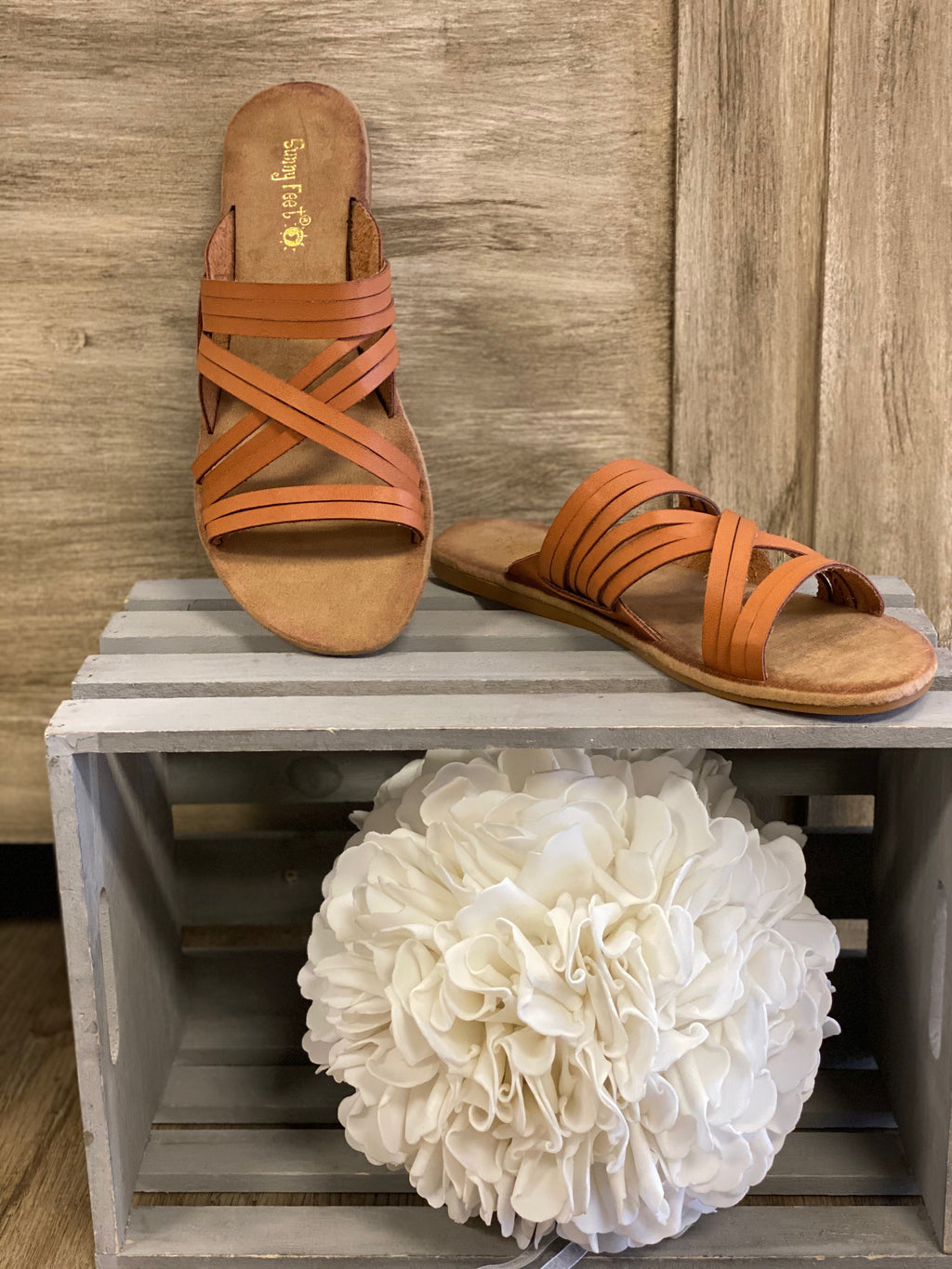 Strappy Casual Sandal-Tan