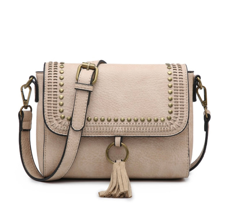 Studded Crossbody - Beige