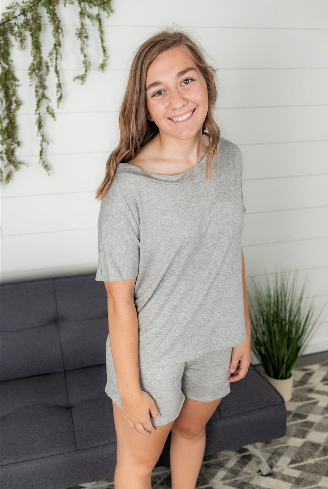 Slouchy Tee - Heather Grey