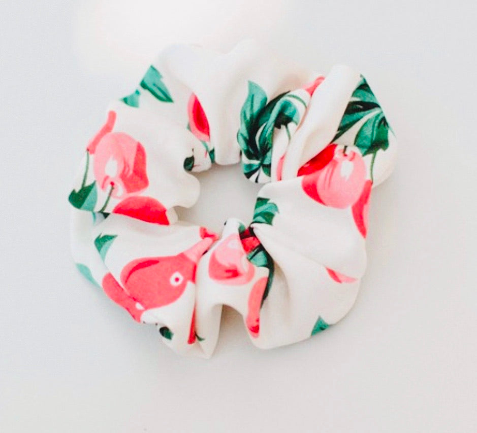 Hair Scrunchie - Cherry Floral