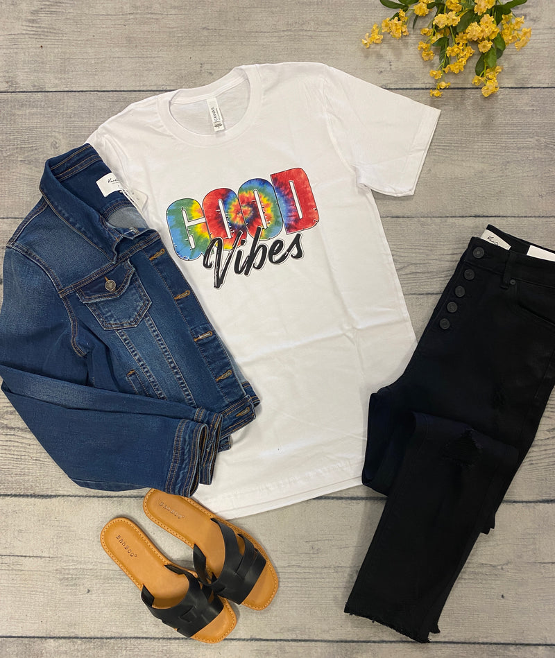 Good Vibes Tee-White