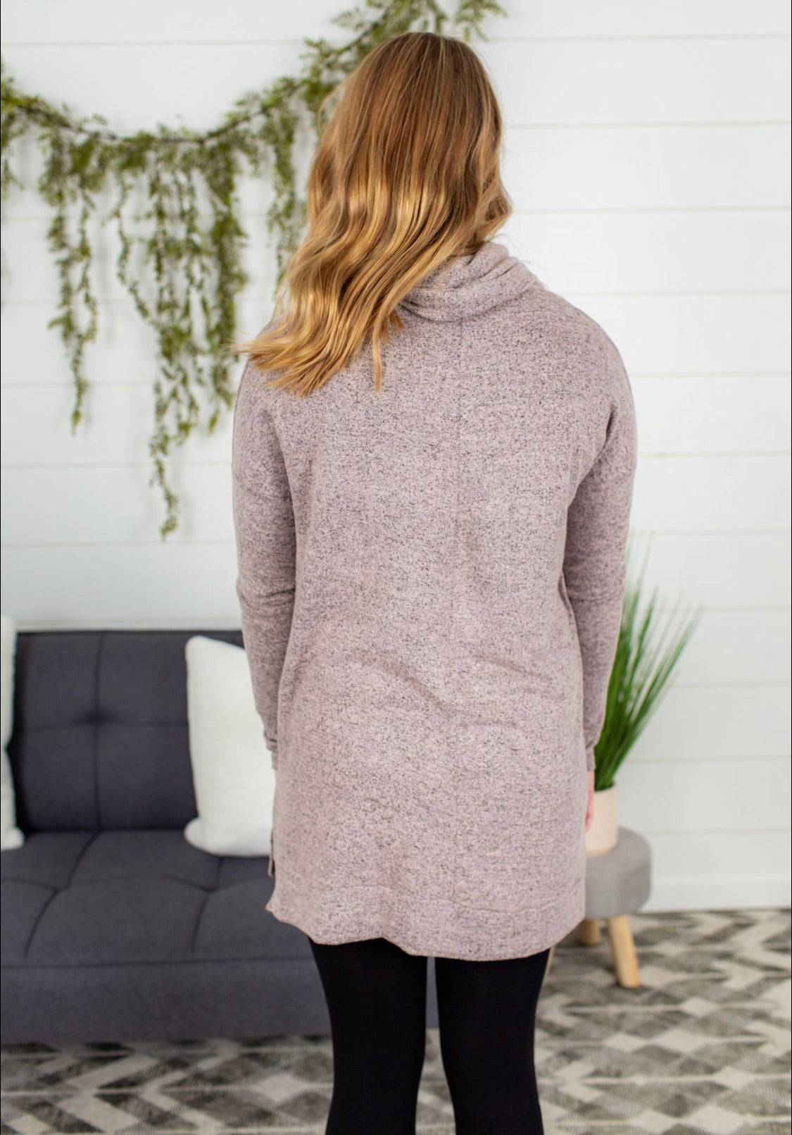 Turtle Neck Long Sleeve - Blush