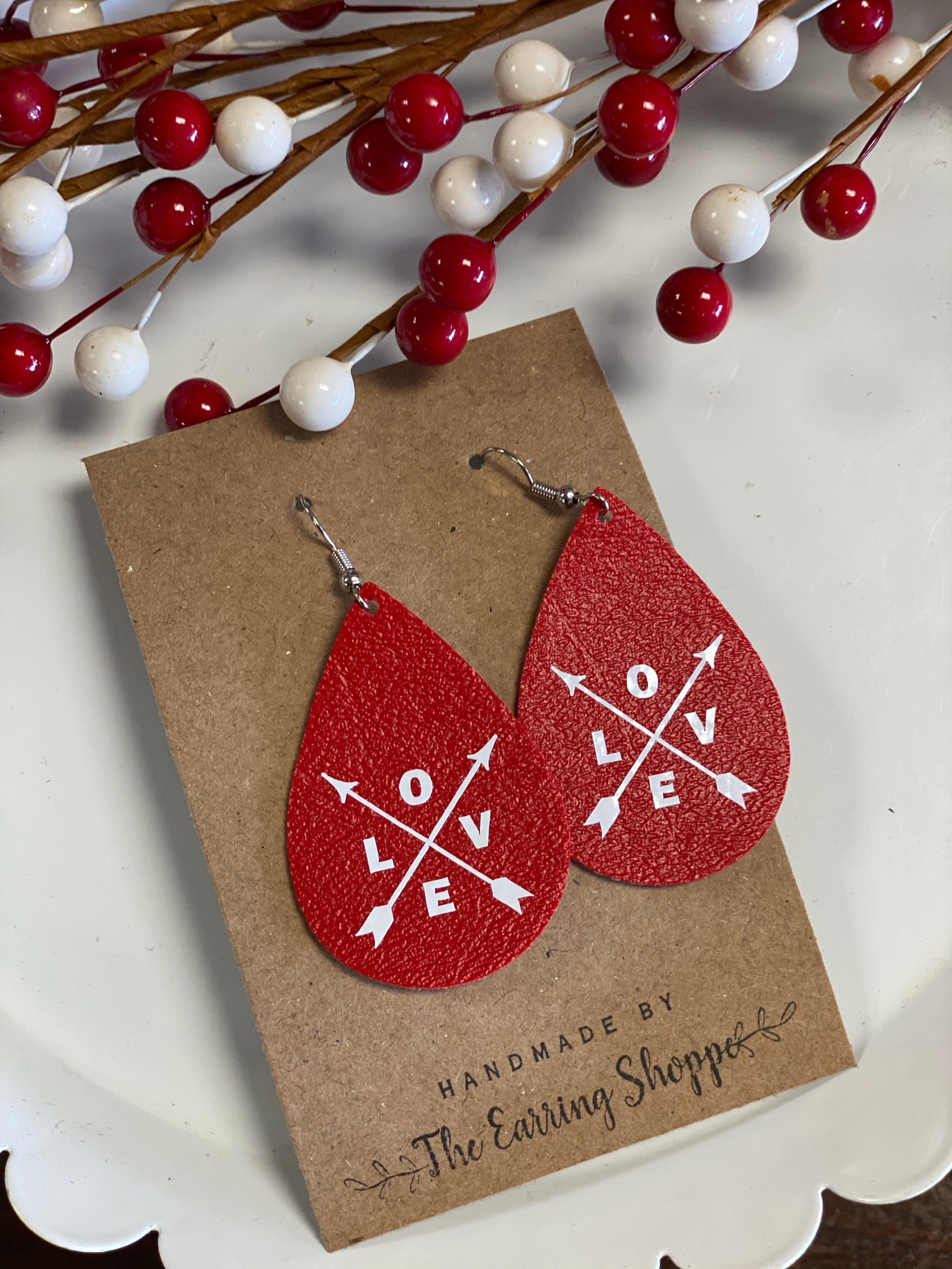 Valentine Earrings - Single Layer