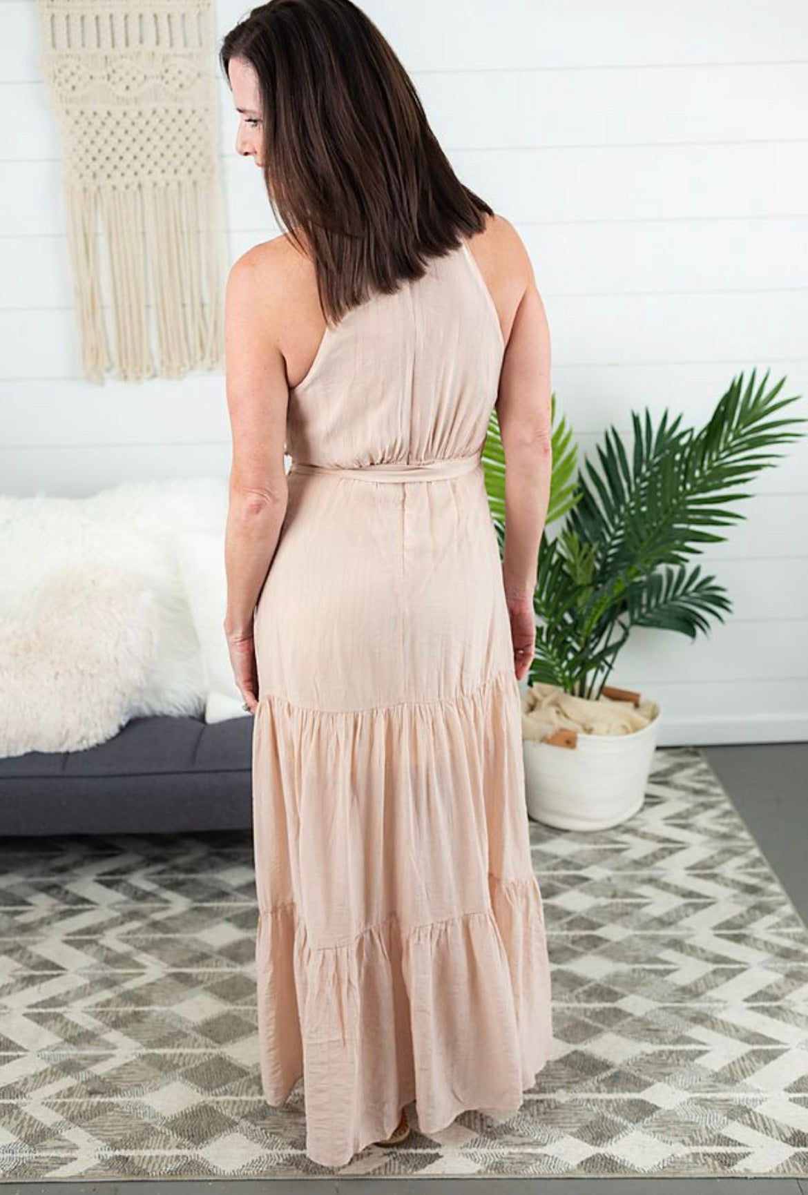 Halter Maxi Dress - Blush