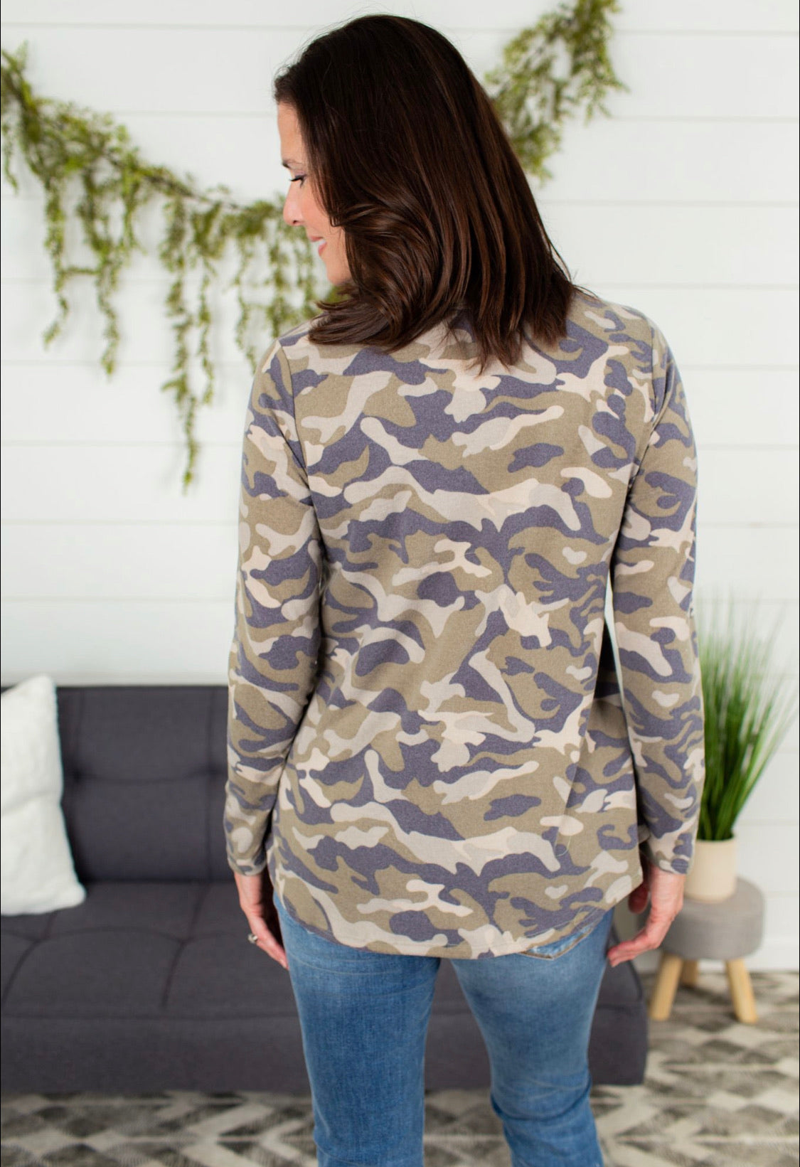 Camo Top With Pocket