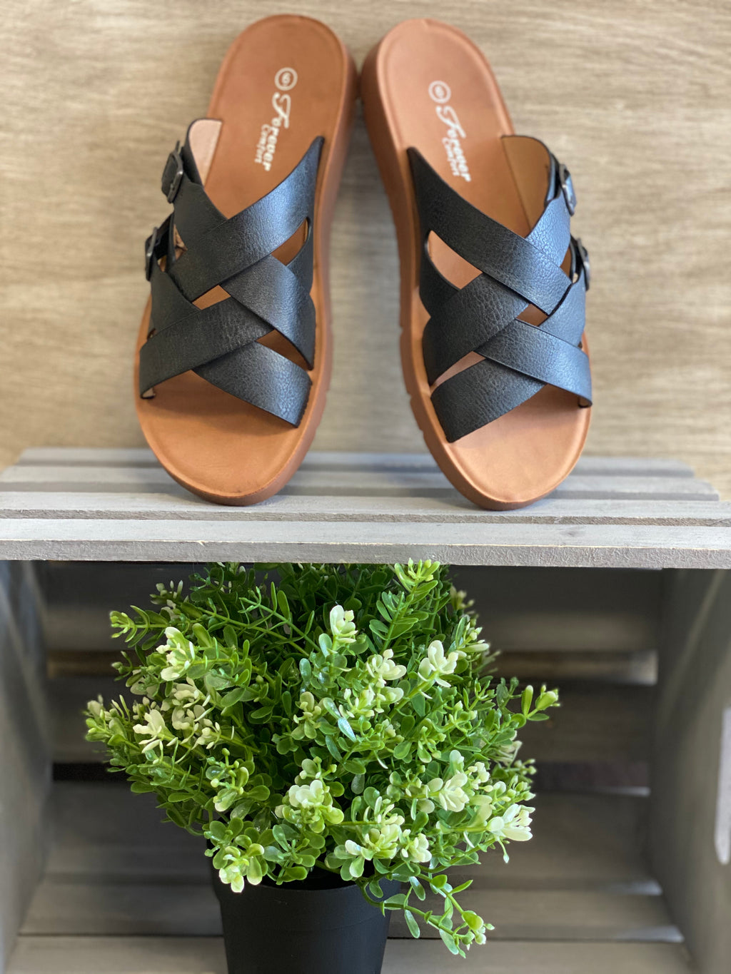Casual Summer Sandal - Black