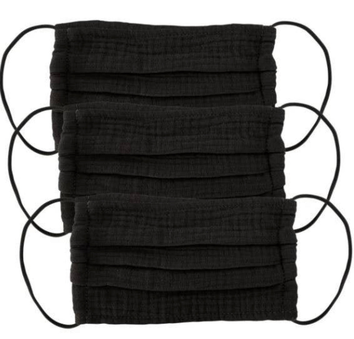 Cotton Mask Set - 3 piece - Black