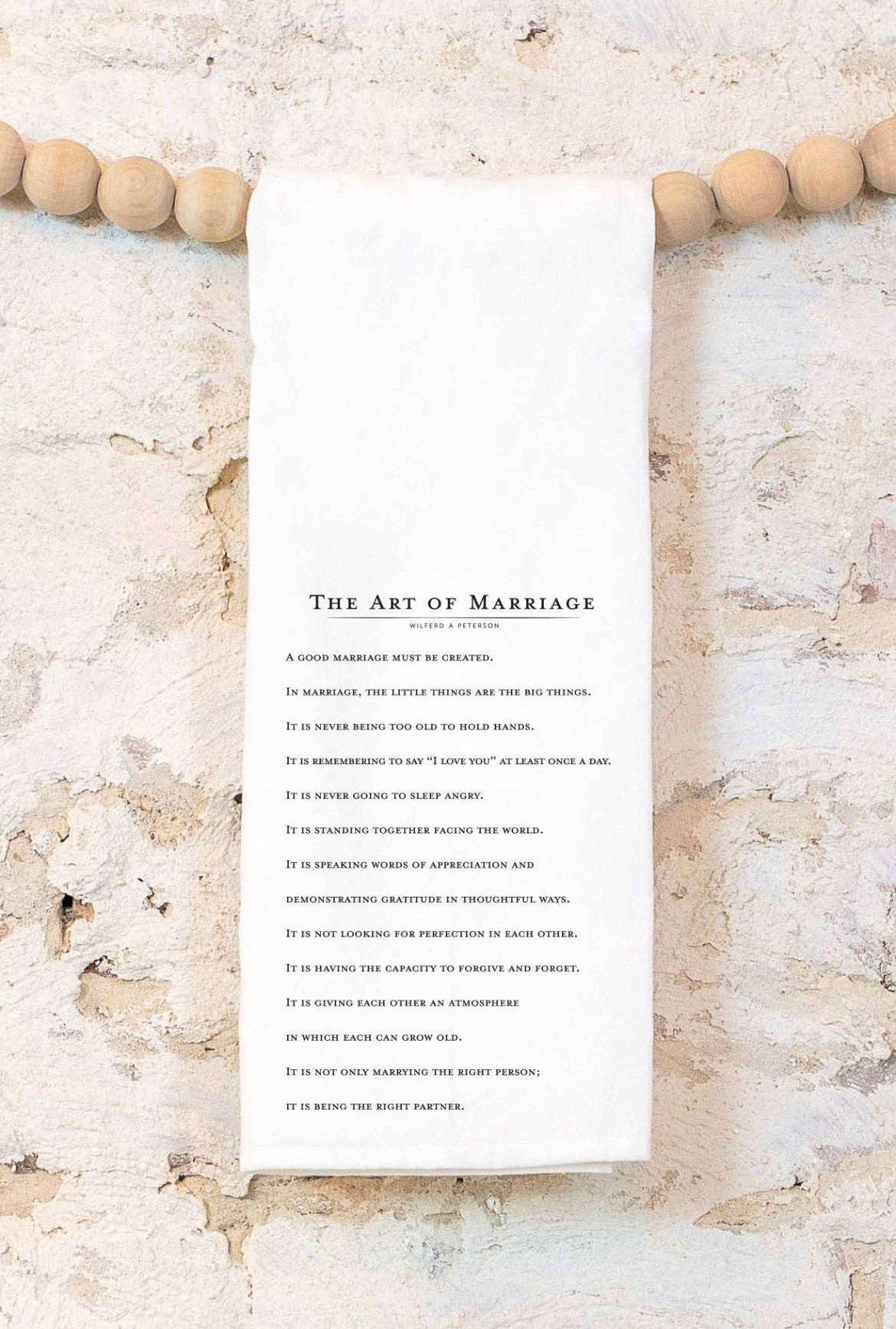 The Art Of Marriage Tea Towel