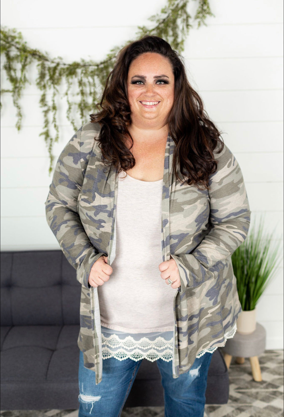 Camo Cardigan Plus - Army