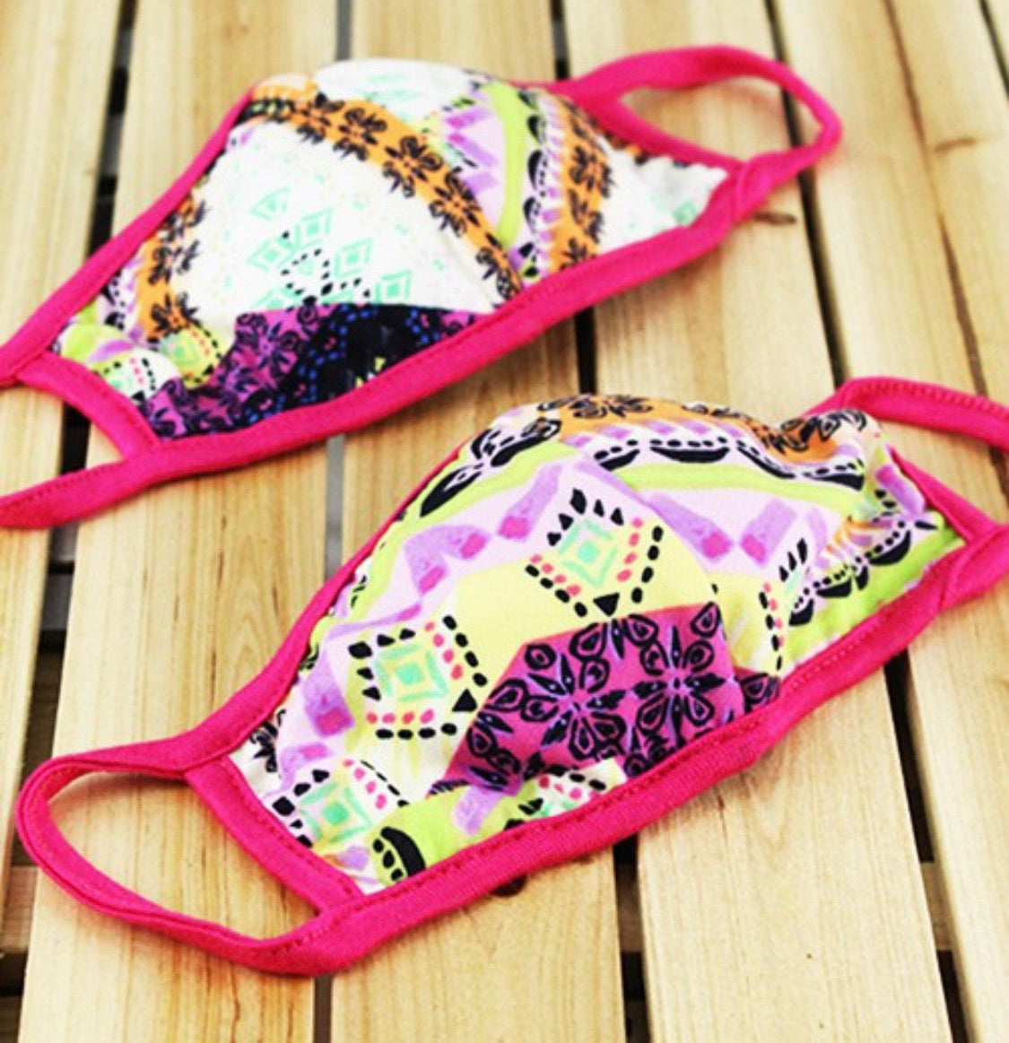 Kids Mask - Fuchsia Multi