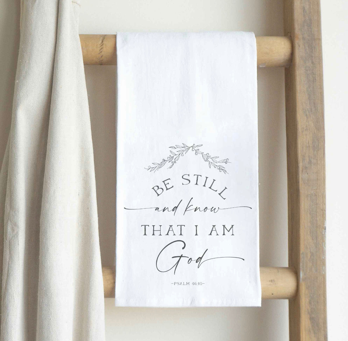Be Still and Know Tea Towel