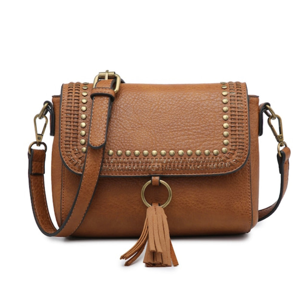 Studded Crossbody - Camel