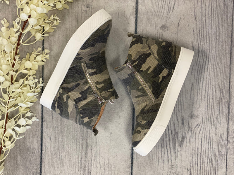 Hidden Wedge High Top - Camo