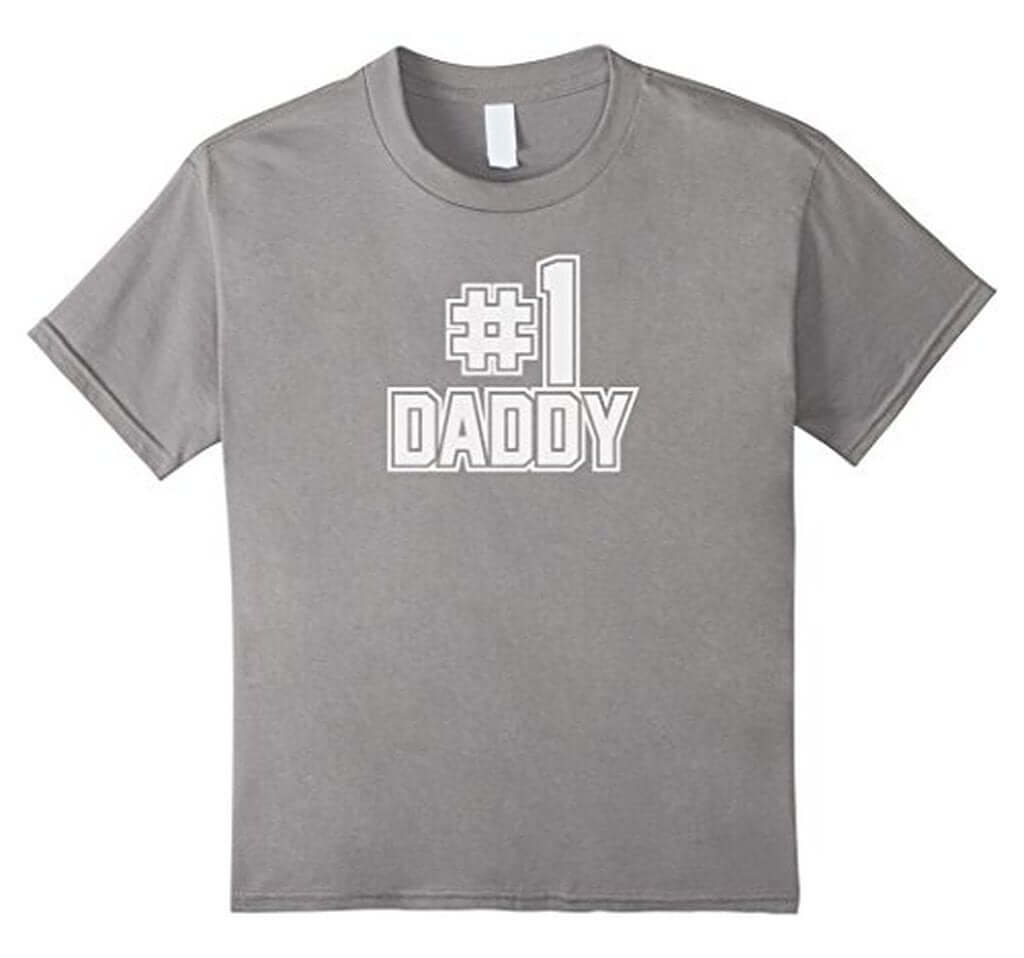 #1 Daddy Funny Daddy Gifts Father's day Gifts T-shirt Color: Heather GreySize: S