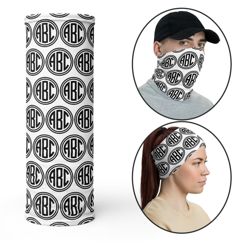 Custom Solid Color Neck Gaiter Face Covering Mask with logo Personalized Facemask Gaiter Bandana Head Shield Adults Protection Scarf Head