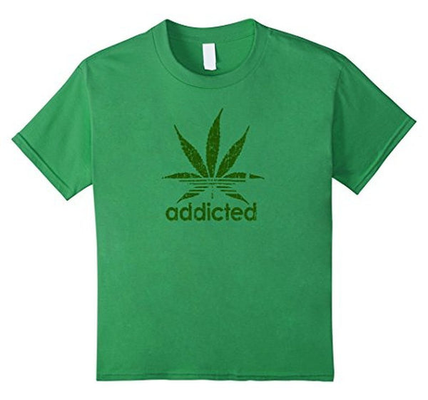 Addicted Green Leaf Weed Day T-shirt Grass / 3XL T-Shirt BelDisegno