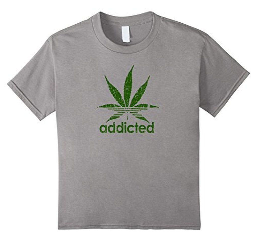 Addicted Green Leaf Weed Day T-shirt Heather Grey / 3XL T-Shirt BelDisegno