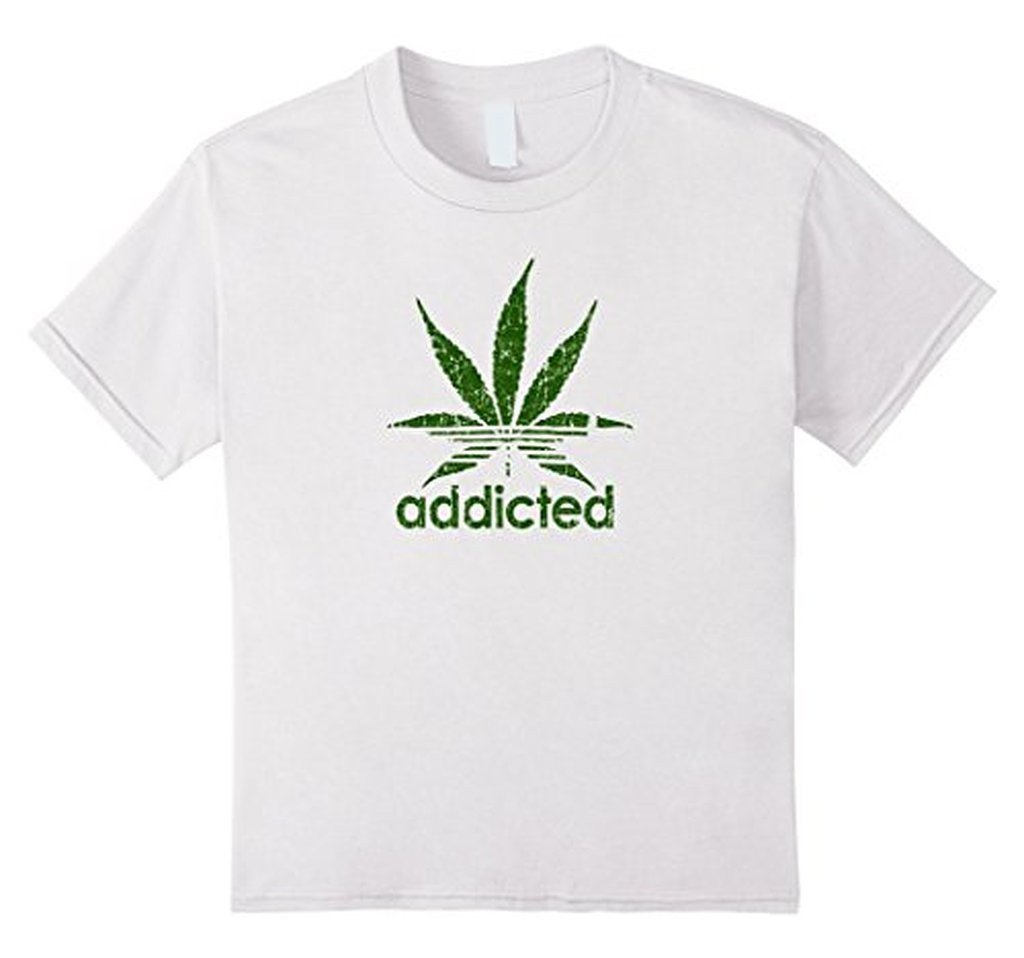 Addicted Green Leaf Weed Day T-shirt White / 3XL T-Shirt BelDisegno
