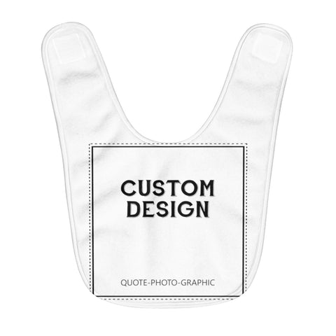 Personalized Fleece Baby Bib