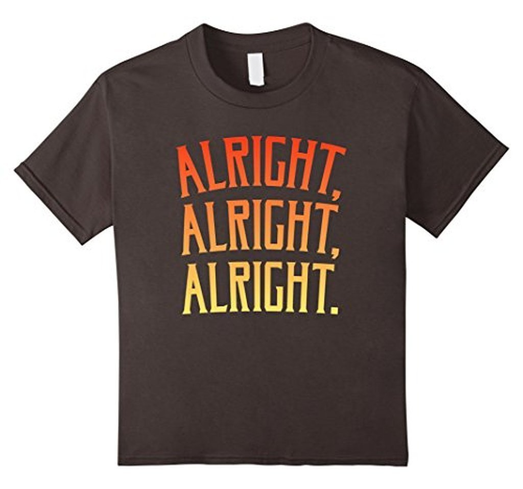 Alright Alright Alright Funny Novelty T-shirt Asphalt / 3XL T-Shirt BelDisegno