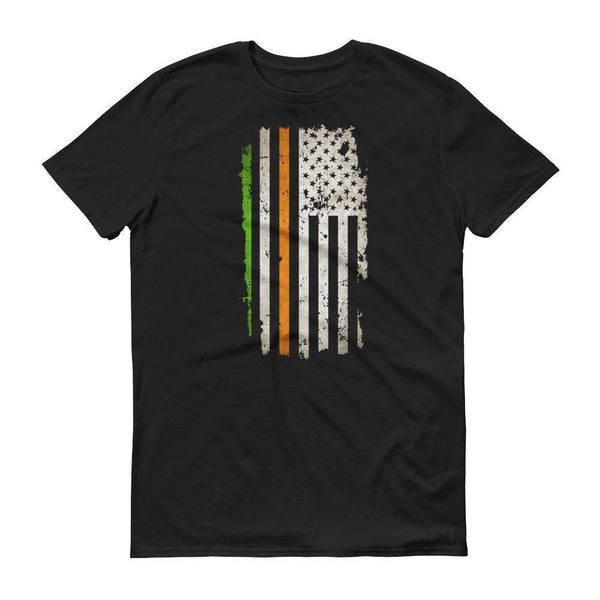 America USA Ireland Flag tshirt Men's St Patrick's Day Shirt Black / 3XL T-Shirt BelDisegno