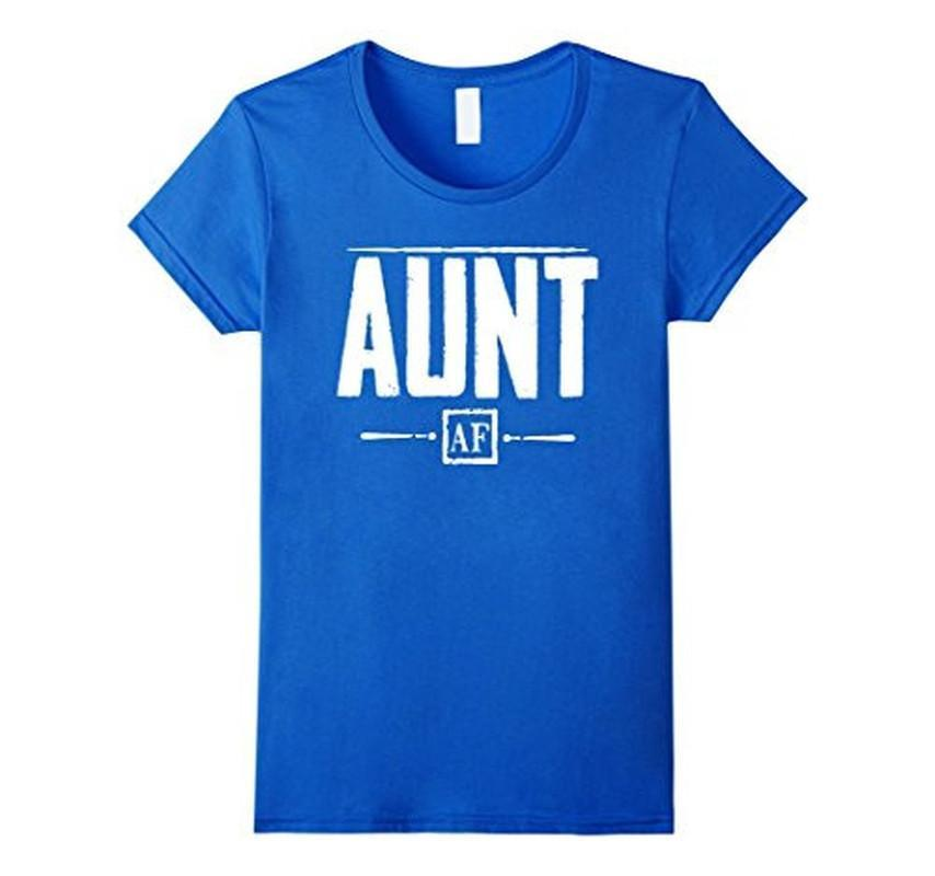 Aunt AF for Aunt Auntie Gifts T-shirt Color: Royal BlueSize: S