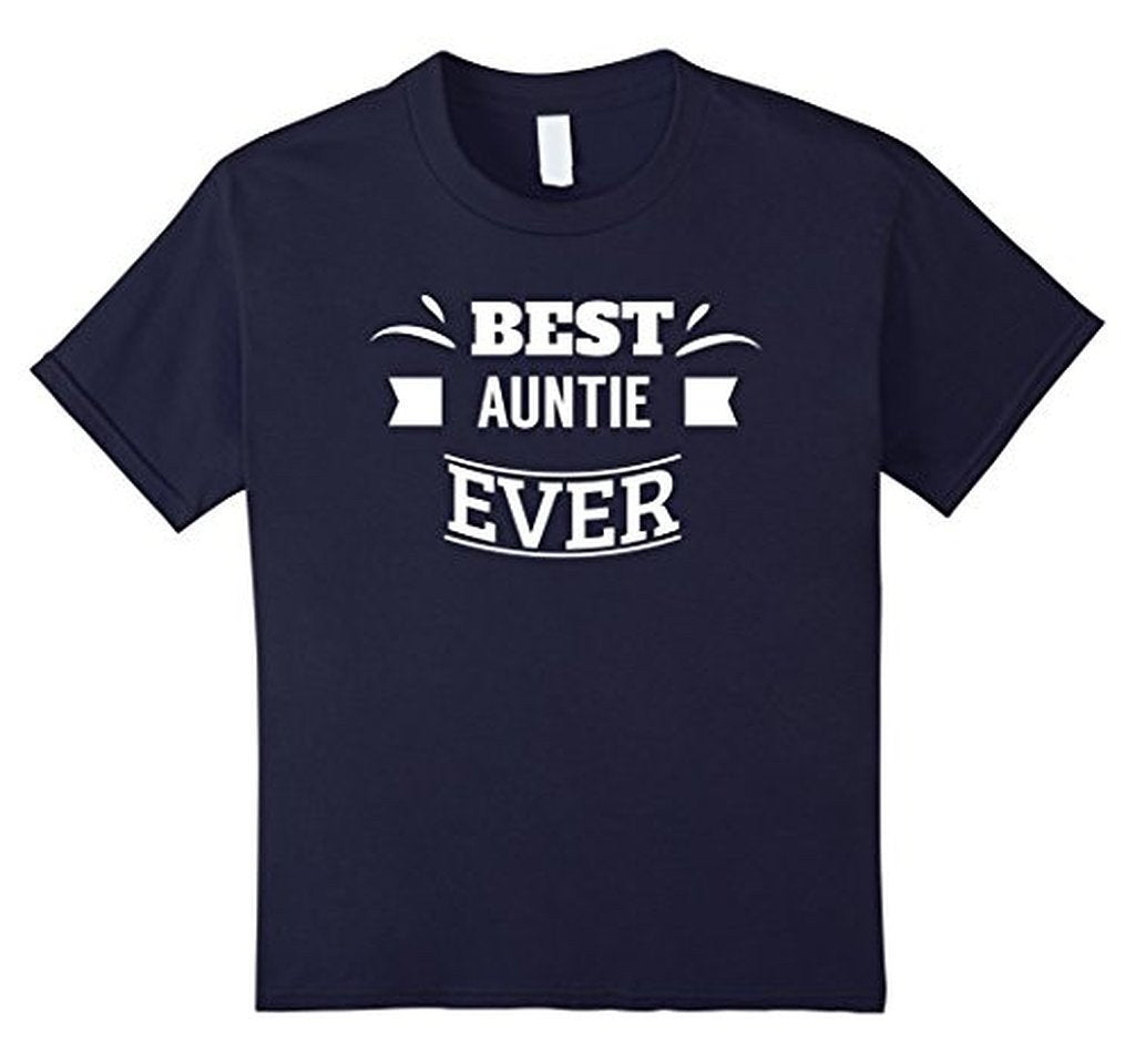 Aunt gifts Best Auntie Ever for favorite aunt T-shirt Size: SColor: Black