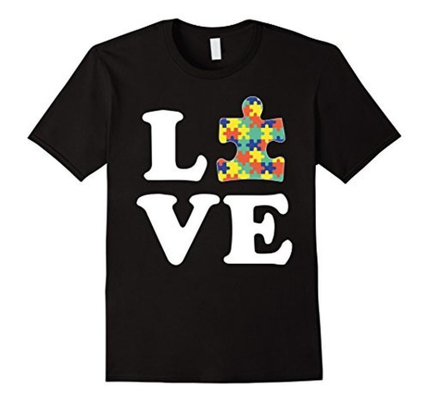 Autism Awareness Autism For Kids Men Moms T-shirt Color: BlackSize: SFit Type: Men