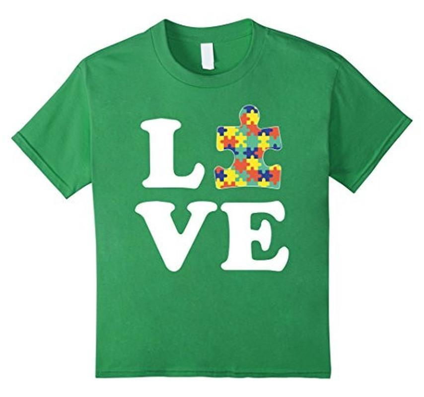 Autism Awareness Autism For Kids Men Moms T-shirt Color: GrassSize: SFit Type: Men